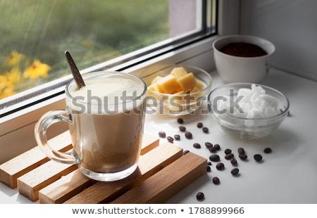 Coconut flavored coffee  Stock photo © grafvision