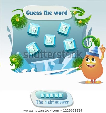 Indovinare parola educativo gioco ragazzi Foto d'archivio © Olena