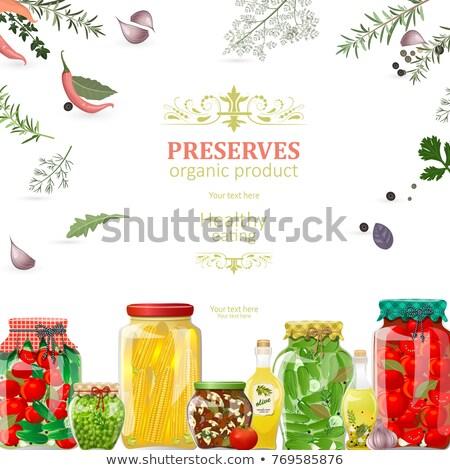Bewaard vruchten groenten banners ingesteld online Stockfoto © robuart