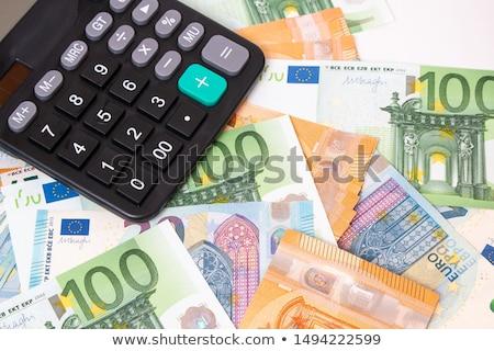 Kalkulator euro kopia przestrzeń działalności pieniężnych Zdjęcia stock © Zerbor