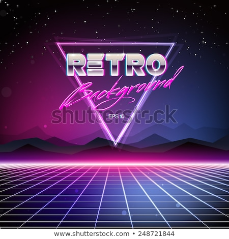 background triangles 80s Stock photo © studiostoks