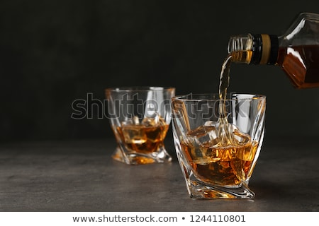 Whiskey bril ijs tabel alcohol Stockfoto © Akhilesh