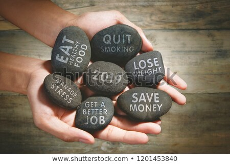 man holding a stone with the number 2019 stock photo © nito