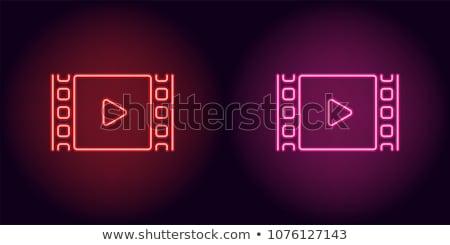 Filmszalag neonreklám film promóció fény terv Stock fotó © Anna_leni