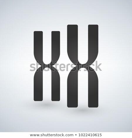 ゲノム · コード · アイコン · 色 · 黒 - ストックフォト © kyryloff