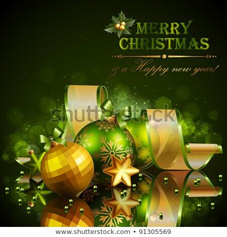 陽気な · クリスマス · 暗い · 冬 · 印刷 · カード - ストックフォト © cidepix