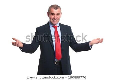 portret · glimlachend · senior · zakenman · kantoor · business - stockfoto © Minervastock