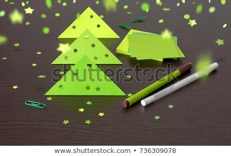 Kreatív karácsonyfa részecskék fa terv háttér Stock fotó © SArts