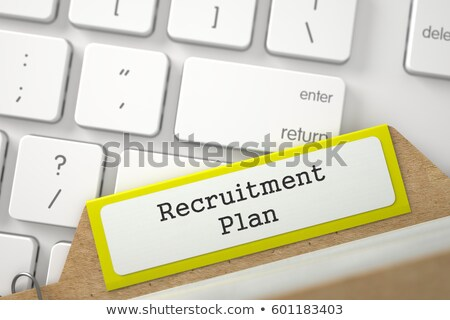 Index Card with Recruitment Plans. 3d Render. Stock photo © tashatuvango