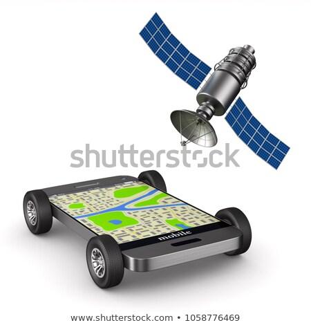 satélite · 3D · imagem · tecnologia · militar · tempo - foto stock © nasirkhan