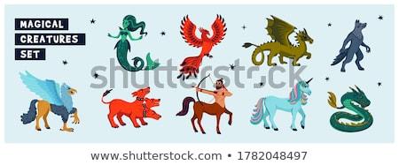 Design mythologique créature vecteur une grand Photo stock © robuart