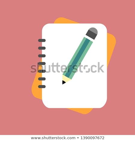 Crayon papier blanche papier ondulé page Photo stock © creatOR76