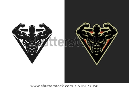 body builder man vector logo icon sign symbol Stock photo © blaskorizov