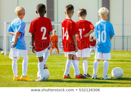 football soccer goalkeeper training session coaching youth stock photo © matimix
