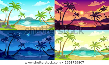 Scene with blue ocean at daytime Stock photo © colematt
