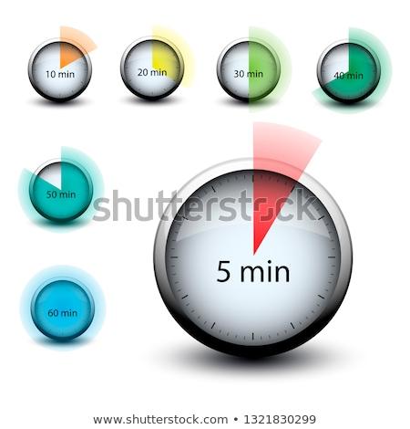 Stopperóra idő 30 jegyzőkönyv webes ikon izolált Stock fotó © mizar_21984