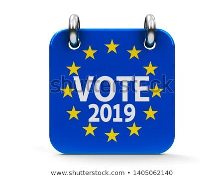 Votar eleição ícone calendário bandeira dia Foto stock © Oakozhan
