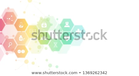 chemical industry concept icons pattern stock photo © netkov1