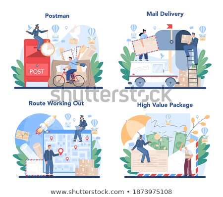 Official Postman set In Uniform Stock photo © netkov1