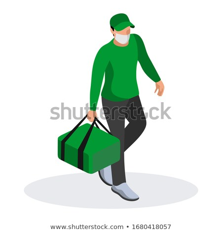 Delivery Man Wearing Uniform Vector Illustration Stock photo © robuart