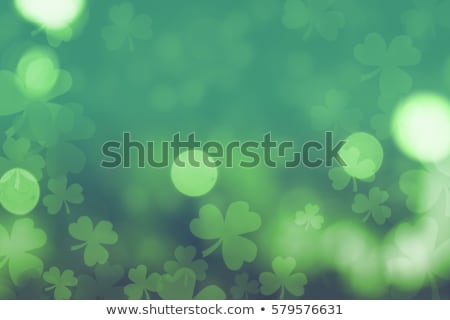 Trevo folhas moedas de ouro dia feliz Foto stock © SArts