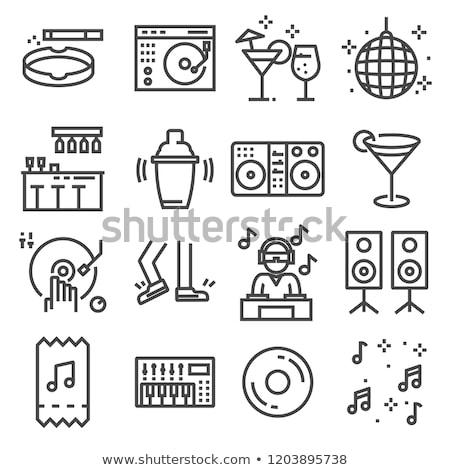 Set of Night club icons Stock photo © angelp