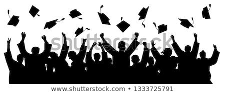 érettségi · szertartás · illusztráció · diplomás · lány · gyermek - stock fotó © Blue_daemon