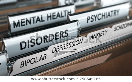 Mental Health Disorder List, Depression Diagnosis Foto stock © olivier_le_moal