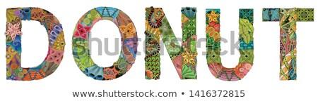 Word DONUT. Vector decorative zentangle object for decoration Stock photo © Natalia_1947