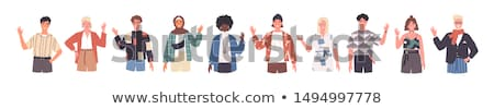 Set of multicultural people character Stock photo © bluering