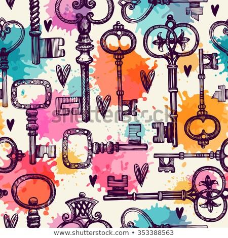 différent · vintage · touches · maison · maison - photo stock © netkov1