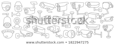 outdoor wireless surveillance video camera vector stock photo © pikepicture