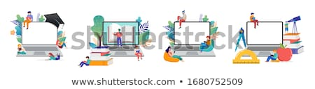 Online tutor concept vector illustration Stock photo © RAStudio