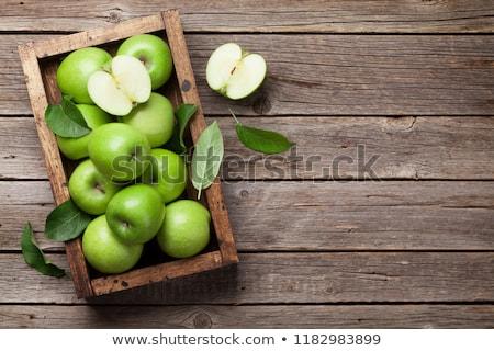 heerlijk · appels · gras · foto's · groep · boerderij - stockfoto © karandaev
