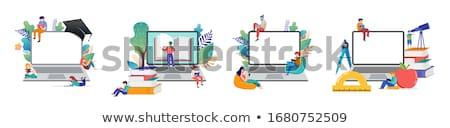Online tutor concept vector illustration Stock photo © RAStudio