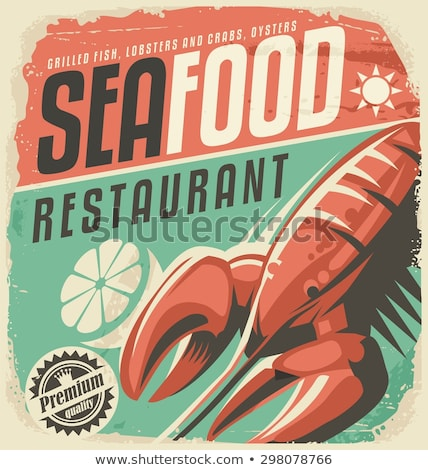 Vintage fruits de mer restaurant modernes logo Photo stock © netkov1