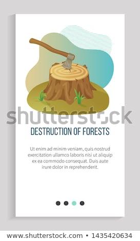 Environmental Problem, Deforestation and Ax App Stock photo © robuart
