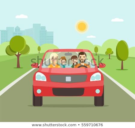 Reis groene voertuig bestuurder auto vector Stockfoto © robuart