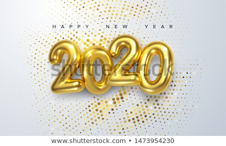 Colorful 3d text 2020. Congratulations on the new year 2020 Stock photo © m_pavlov