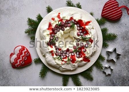 Meringue cakes on a stone background Stock photo © masay256