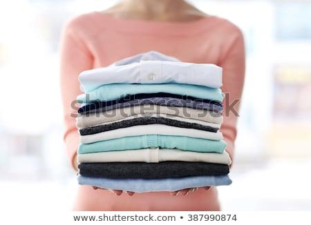 Mulher têxtil limpador roupa compras Foto stock © Kzenon