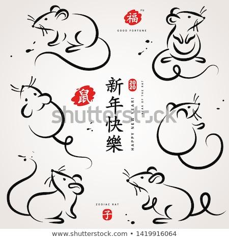 rat icon set Stock photo © bspsupanut