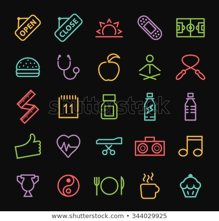 fitness dieting neon sign stock photo © anna_leni