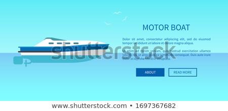 Motorówka reklama plakat oferowanie żaglówce Zdjęcia stock © robuart