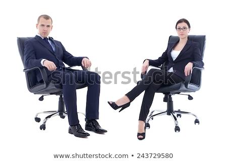Fiatal jóképű politikus ül iroda üzlet Stock fotó © Elnur