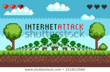 Spel interface hacker aanval monster Stockfoto © robuart