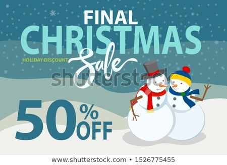 окончательный · Рождества · продажи · праздник · скидка · набор - Сток-фото © robuart