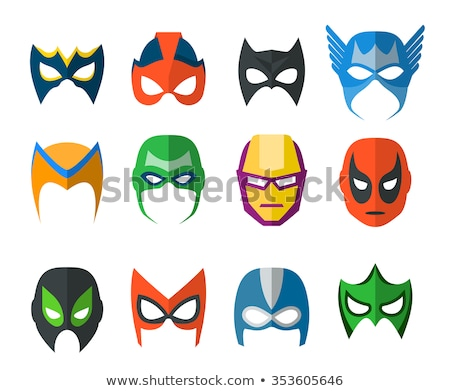 Super Hero Collection Elements Icons Set Vector Stock photo © pikepicture