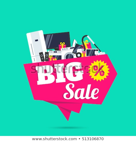 Big Sale on Electronic Appliances Shopping Vector Stock photo © robuart
