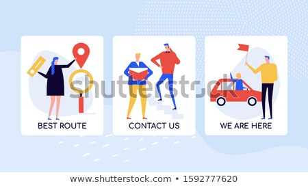 Companhia localização instruções vetor colorido bandeira Foto stock © Decorwithme